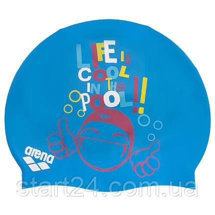 Шапочка для плавания детская ARENA PRINT JUNIOR AR-94171-20 (силикон, цвета в ассортименте), фото 2