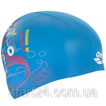 Шапочка для плавання дитячі ARENA PRINT JUNIOR AR-94171-20 (силікон, кольори в асортименті), фото 2