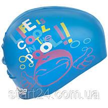 Шапочка для плавання дитячі ARENA PRINT JUNIOR AR-94171-20 (силікон, кольори в асортименті), фото 3