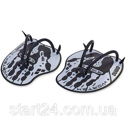 Лопатки для плавания гребные ARENA AR-95232 VORTEX EVOLUTION (TPR, силикон, р-р М-17х19см, L-18x20см, цвета в, фото 2
