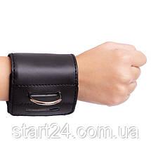 Манжет (ремінь) для силової тяги на гомілку і зап'ястя AS3001 Ankle Strap (PVC, метал,р-р 36х10,5см), фото 3