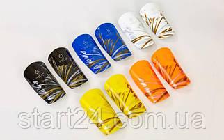 Щитки футбольные LIGA CHAMPION FB-6847 (пластик, EVA, l-18х9см, р-р L, цвета в ассортименте)