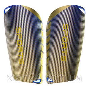 Щитки футбольные SPORTS FB-6848 (пластик, EVA, L-18х9,5см, M-15x9см, цвета в ассортименте)