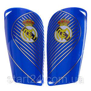 Щитки футбольные REAL MADRID FB-6850 (пластик, EVA, l-14х8см, р-р S-L, цвета в ассортименте)
