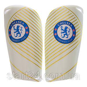 Щитки футбольные CHELSEA FB-6851 (пластик, EVA, l-14х8см, р-р S-L, цвета в ассортименте)