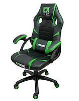 Кресло компьютерное С ПОДУШКОЙ Стул игровой Геймерське крісло компютерне Крісло спортивне Extreme EX зелене