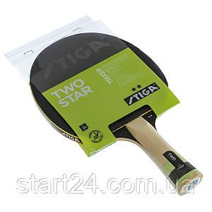 Ракетка для настольного тенниса 1 штука STIGA SGA-1212131501 TRIXER 2* (древесина, резина)