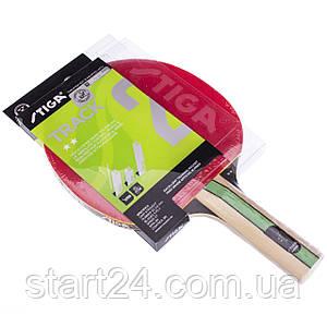 Ракетка для настольного тенниса 1 штука STIGA SGA-1212201737 TRACK 2* (древесина, резина)