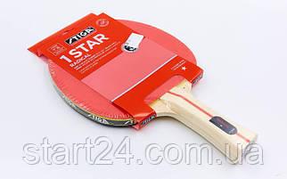 Ракетка для настольного тенниса 1 штука STIGA SGA-172101 HEAFTY HOBBY (древесина, резина)