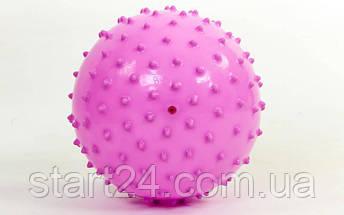 Мяч массажный для фитнеса 18см BA-3401 (резинa, 80гр, фиолетовый, синий, розовый), фото 3