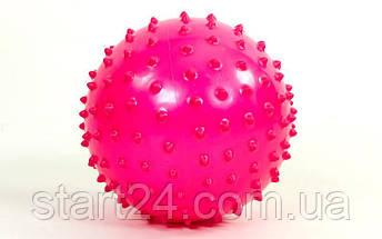 Мяч массажный для фитнеса 18см BA-3401 (резинa, 80гр, фиолетовый, синий, розовый), фото 2