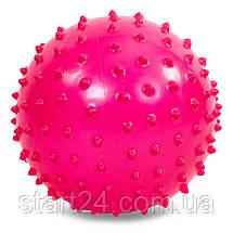 М'яч масажний для фітнесу 23см BA-3402 (гума, 150гр, фіолетовий, синій, рожевий), фото 2
