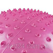 М'яч для фітнесу (фітбол) масажний 55см Body Sk BB-003-22-DN (PVC,1200г,+DVD+насос, ABS технологія, рожевий), фото 3