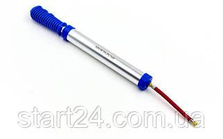Насос ручний для м'ячів LEGEND FB-9618 (пластик, алюміній, l-33см, d-3см, 1игла, 1шланг, 1насадка)