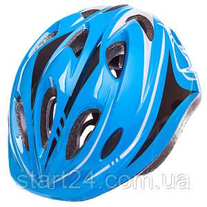 Шлем защитный с механизмом регулировки Zelart SK-5611 (EPS, PE, р-р L-54-56, 12 отверстий, цвета в