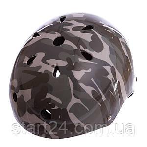 Шлем для экстремального спорта Zelart SK-5616-009 (ABS, PE, р-р L-56-58, камуфляж)