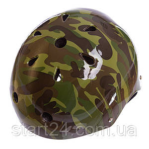 Шлем для экстремального спорта Zelart SK-5616-010 (ABS, PE, р-р L-56-58, камуфляж зеленый)