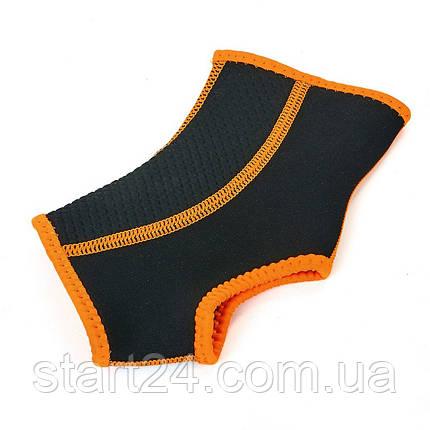 Голеностоп (бандаж гомілковостопного суглоба) неопреновий (1шт) BC-0629 (р-р S-XL, чорний-помаранчевий), фото 2