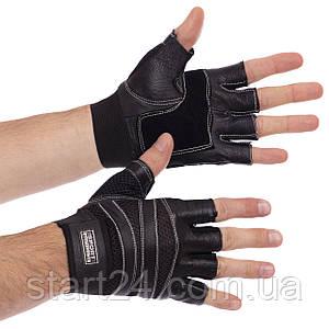 Рукавички для кроссфита і воркаута шкіряні SPORT WorkOut BC-1018 розмір L-XL кольори в асортименті