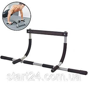 Тренажер-турнік Iron Gym HT-11A (метал,пінорезина, р-р 94x44x17,3см, вага позльз. до 100кг)