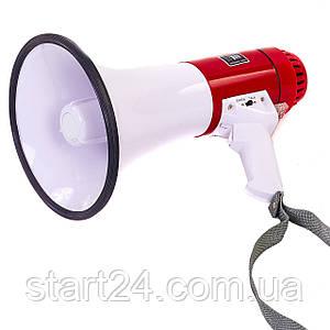 Гучномовець HW-2007M (пластик, d-20,5 см, l-35,5 см, 20W, біло-червоний)