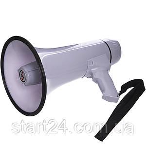 Гучномовець HW-20B (пластик,d-19,5 см, l-32,3 см,30W,з мікрофон,аккум,на бат. (6C),запис 10сек.)