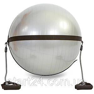 Ремінь на фітбол d-75см для крепл.еспандерів FI-0702-75 BODY BALL STRAP (без фітболу) (2эсп.l-118см, чорний)