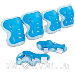 Защита детская наколенники, налокотники, перчатки Record SK-6328BL (р-р S-M-3-12лет, голубой)