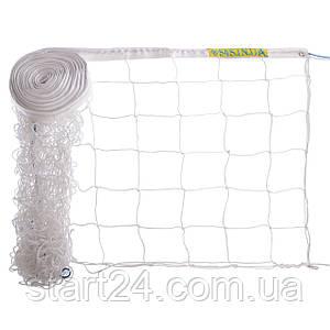 Сетка для волейбола Элит15 SO-0948 (PP 3,5мм, р-р 9x0,9м, ячейка 15x15см, паракорд)