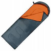 Спальный мешок (спальник) одеяло SportVida SV-CC0065 +2 ...+ 21°C R Navy Green/Orange
