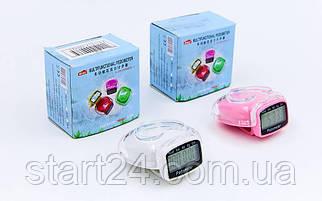 Шагомер электронный с клипсой HZ-787 (пластик, акрил, 3 в 1 калории, кол-во шагов, расстояние)