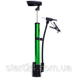 Насос підлоговий ручної для м'ячів, велосипедів JC314 (пластик, алюміній, l-31см,кольори в асортименті)
