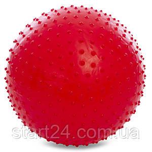 М'яч для фітнесу (фітбол) масажний 65см PS FI-078-65 (PVC, 1100г кольору, в асор, ABS технологія)