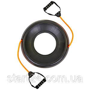 Підставка зі знімними еспандером для фітболу PS FI-0850-T (2эсп. d-12мм x 2,5 мм, l-48см, чорний)