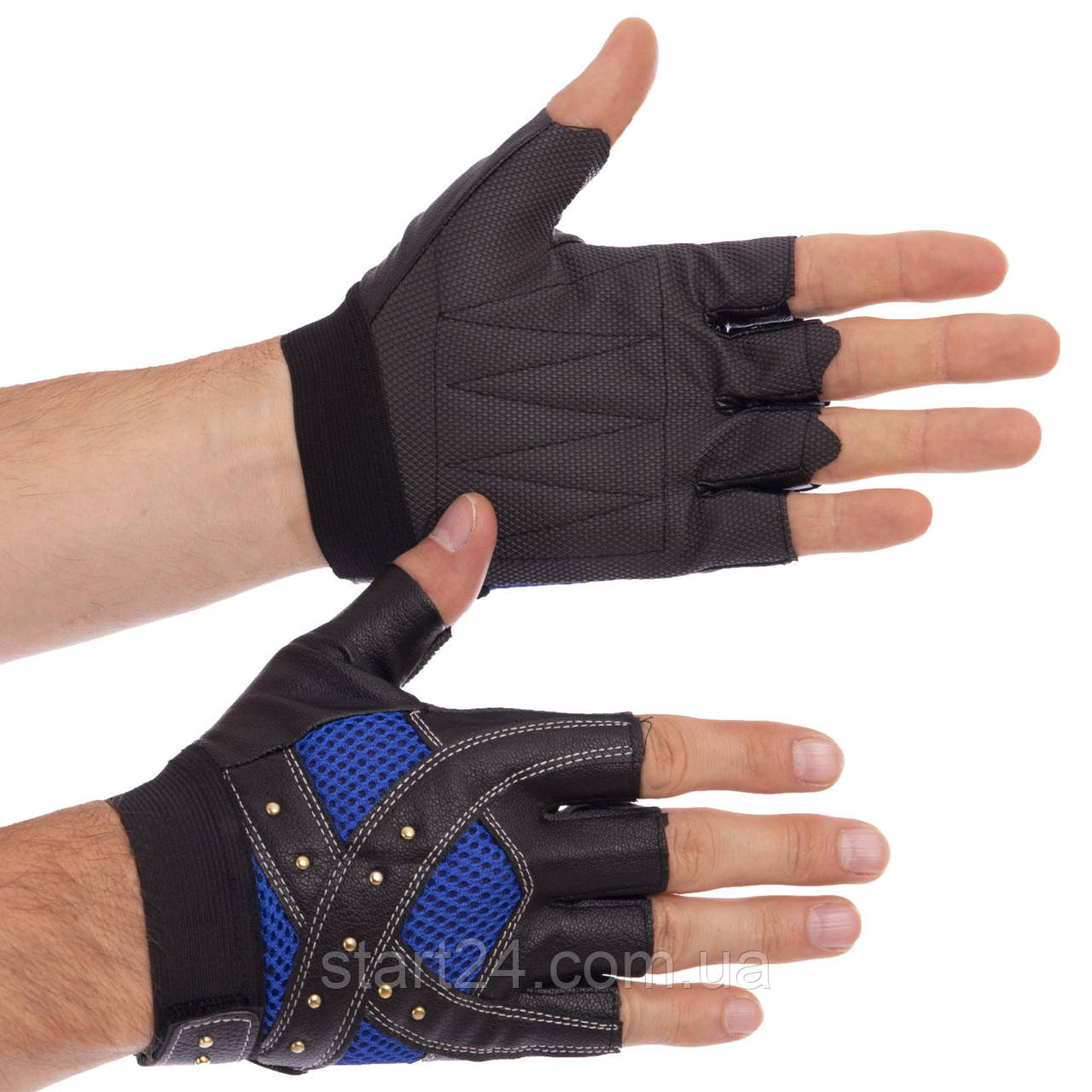 Перчатки для кроссфита и воркаута SPORT WorkOut BC-4621 размер L-XL цвета в ассортименте