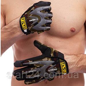 Перчатки тактические с закрытыми пальцами MECHANIX WEAR BC-4699-H (р-р L-XL, камуфляж Woodland)