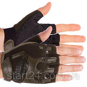Перчатки тактические с открытыми пальцами MECHANIX BC-4926-L (р-р L, цвета в ассортименте)