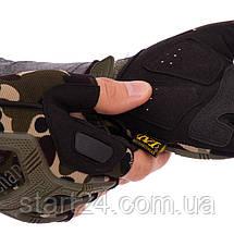 Рукавиці тактичні з відкритими пальцями MECHANIX BC-4927-HG (р-р L-XL, камуфляж Woodland), фото 3
