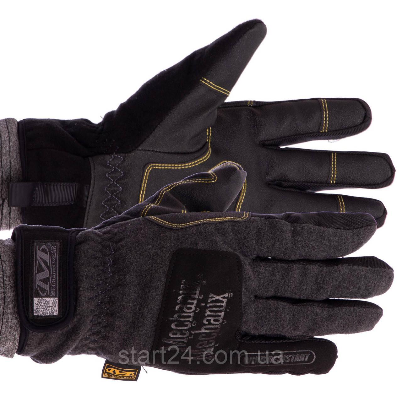 Рукавички теплі текстильні з закритими пальцями MECHANIX BC-5621 (р-р M-XL, чорний)
