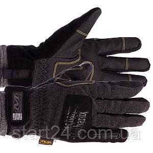 Перчатки теплые текстильные с закрытыми пальцами MECHANIX BC-5621 (р-р M-XL, черный)