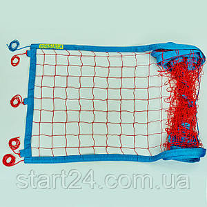 Сетка для пляжного волейбола Транзит SO-0951 (синтетический шнур 2,5мм, р-р 8,5x1м, ячейка 10см,паракорд,