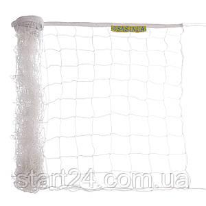 Сетка для волейбола Эконом10 UR SO-5269 (PP 2,5мм, р-р 9,5x1м, ячейка 10x10см, шнур натяжения)