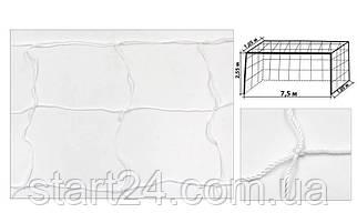 Сетка на ворота футбольные любительская узловая (2шт) Эконом UR SO-5294 (PP 2,5мм, яч. 15x15см)