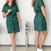 Жіноче літнє лляне плаття з поясом (Норма і батал), фото 7