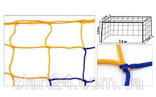 Сетка на ворота футбольные тренировочная узловая (2шт) Стандарт 1,5 UR SO-5297 (PP 3,5мм, 15x15см)
