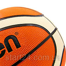 М'яч баскетбольний гумовий №6 MOLTEN BGR6-OI (гума, бутил, оранжевий), фото 3