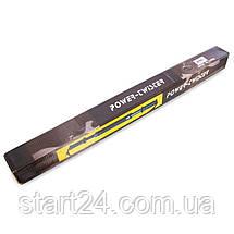 Эспандер силовой прут Power Twister K104 (металл, ручка резина, l-65см, d-3,6см, нагрузка 30кг, черный), фото 3