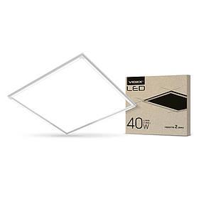 LED панель VIDEX 60*60 40W 5000K 4000Lm белая рамка VL-PA405W (светодиодный светильник)