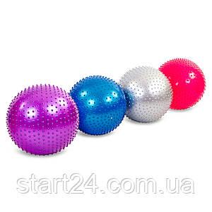 Мяч для фитнеса (фитбол) массажный 55см Zelart FI-1986-55 (PVC, 900г, цвета в ассор,ABS технолог)