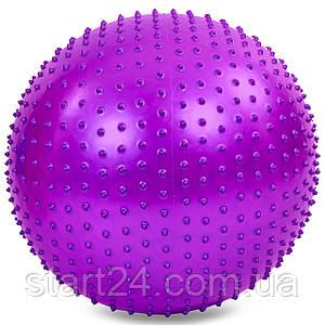 М'яч для фітнесу (фітбол) масажний 65см Zelart FI-1987-65 (PVC, 1100г кольору,в асор,ABS технолог)